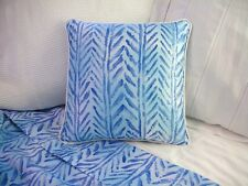 NEW Custom Ralph Lauren Jamaica Blue Chevron Pillow 16 inch Invis Zipper Close