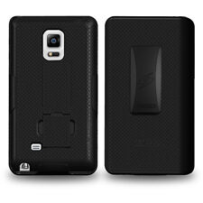 Amzer Shell Case Belt Clip Holster Kickstand Cover for Galaxy Note Edge - Black