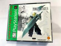 Final Fantasy VII 7 PS1 Sony PlayStation 1 Game All 3 Discs & Case TESTED!