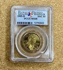 2005-D Sacagawea Dollar Satin Finish PCGS MS68 Uncirculated Mint!