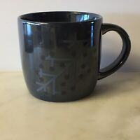 Dunkin' Donuts Pearlescent Luster Snowflake Holiday Coffee MugCup 2014