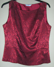 New Look Ladies Sleeveless Top - Red - Size 14