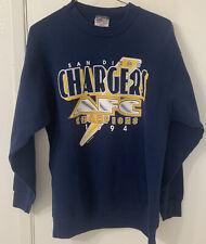 Vintage San Diego Chargers 1994 AFC Champs Blue Sweatshirt Medium NFL