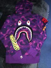 Bape Shark broderie Shark Sweat à capuche-MEDIUM-NEW deadstock