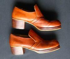 Verde Argentina 1970s Platform Mens 9 1/2 Shoes - Nice !