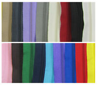 CONTINUOUS ZIP & SLIDERS No.3  *19 COLOURS* ZIPPER CUSHIONS HABERDASHERY1 or 5 M
