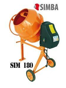 Electric Cement Mixer 180L Litre 230V Volt 850W Portable Concrete Mortar Plaster