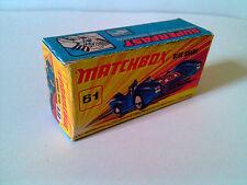 Boîte copie repro MATCHBOX Superfast N° 61 Blue Shark ( reproduction box vide )