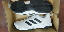 BRAND NEW Adidas Men's Game Spec Tennis Athletic Shoe White Black Stripe Size 10