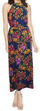 Donna Morgan Maxi Chiffon Dress Sleeveless Slip Floral Sundress Size 12 NEW