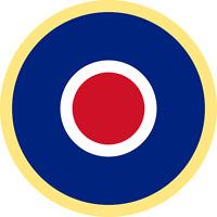 Waterslide Exterior British RAF Roundel Type C1 Model Plane Decals Various Sizes