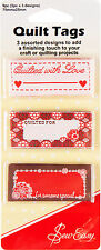 Quilt Tags/ Labels - Add That Finishing Touch To Your Projects & Quilts - ER990