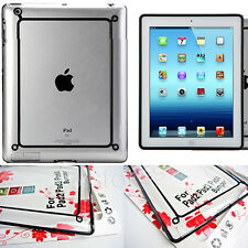 Hybrid Bumper Frame Case Cover For Apple ipad 2/3/4 Tablet With Screen Protector