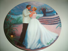 """1987 Knowles South Pacific """"Some Enchanted Evening"""" Collector Plate In Box"""