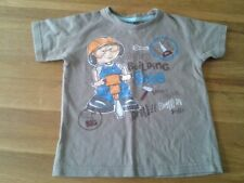 Boys 3-4 Years - Beige T-Shirt - Building Site Motif