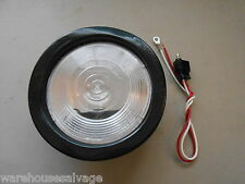 1 RV CAMPER MOTORHOME BUS COACH BOAT TRAILER TRUCK ROUND WHITE BACKUP LIGHT 4""