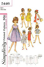Vintage 12 inch doll sewing pattern for Tammy,Jan and Terry Dolls