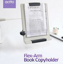 Actto Flex Arm Book Copy holder Desk Top Book Document Reading Stand Clamp Type