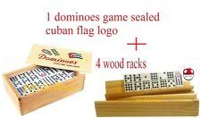 Domino Cuban DOMINO CUBANO DOBLE NUEVE double  NINE DOMINOES + 4 racks/tablitas