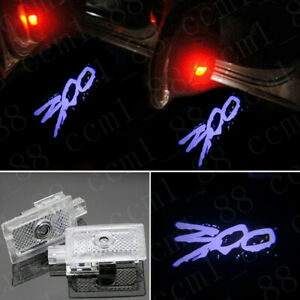 2x White 300 Under Led Puddle Projector Ghost Lights HD For Chrysler 300 2005-19