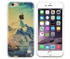 TPU Case für Apple iPhone 6 6S Schutzhülle Tasche Cover Winter Berge Landschaft