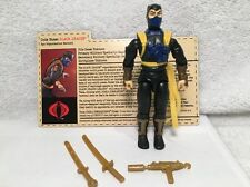 GI JOE 2003 JOECon Convention Operation Anaconda BLACK DRAGON Leader w/FILE CARD