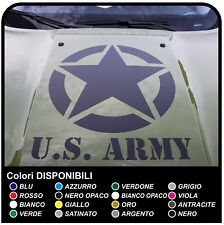 Adesivo Sticker Cofano Jeep nuova Renegade stella US ARMY Renegade decal