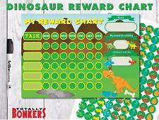 DINOSAUR REWARD CHART WITH x117 STICKERS - FREE POSTAGE