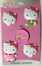Hello Kitty Sanrio Christmas Tree Ornaments 5 Decorations NEW American Greetings