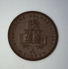 Meissen Medaille Städtische Volksbücherei