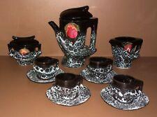 Service à café VALLAURIS ? lave cafetière tasses sucrier pot à lait vintage