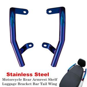Universal Scooter Motorcycle Rear Armrest Shelf Luggage Bracket Bar Tail Wing