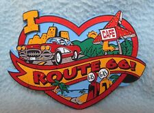 I Love Route 66 Rubber Magnet Souvenir Travel Refrigerator