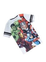 BOYS KIDS AVENGERS MARVEL SHORT SLEEVE CASUAL T-SHIRT TOP