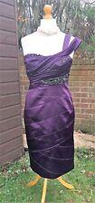 Karen Millen Purple / Violet Dress - Diamante Embellished - UK 16 - Stunning VGC