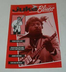 1986 JUKE BLUES UK MAGAZINE # 4 EDDIE KIRKLAND SHACK BULLIES JAMES BROWN SUN BOX
