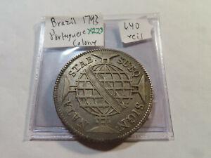 X223 Brazil Portuguese Colony 1793 640 Reis