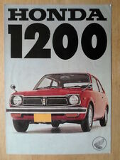 HONDA CIVIC 1200 Z Coupe & Touring orig 1972 UK Mkt Sales Brochure