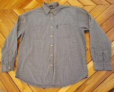 Abercrombie & Fitch blue plaid long sleeve button down mens shirt L