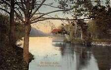 Highland Park Connecticut The Upper Lake Scenic View Antique Postcard J63745