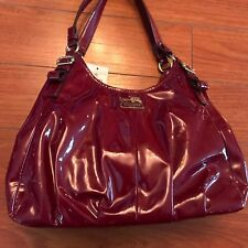 NWT Authentic Coach Horse and Carriage 1941 Leather Hand Bag Size M, Burgandy