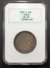 1935-S Texas Comm. Half Dollar NGC MS-65, Buy 3 Get $5 Off!! R7001