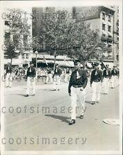 1929 Firemen of Winchester VA in Parade Washington DC Press Photo
