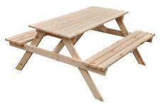 Sitzgarnitur Picknicktisch aus Kieferholz unbehandelt Holztisch Bank Holz