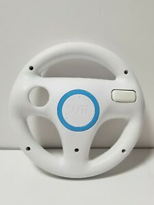 Mario Kart Nintendo Wii Wheel OEM White Steering Wheel Cleaned And Sanitized