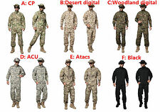Tactical Cargo SHIRT+PANTS Camouflage Combat Uniform Us Army Airsoft Camo BDU