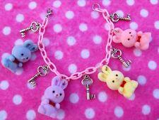 Kawaii Pastel Rainbow Bunny Rabbit Charm Bracelet