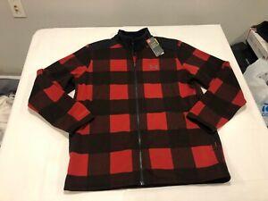 NWT $95.00 Under Armour Mens CG Storm Field Fleece Jacket Red / Black Size XL