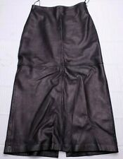 "Vintage Mark Shale Leather Long Maxi Skirt Black Sz 10 / 30"" W Goth Festival"