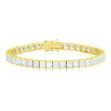 Princess Cut Simulated Diamond Gold Tennis Bracelet